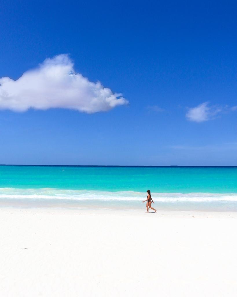 Woman Cloud Beach by Steve Francees